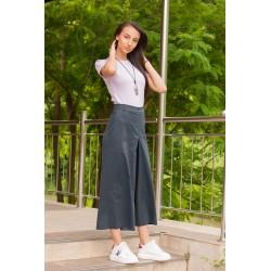 Дамски пола-панталон в сиво