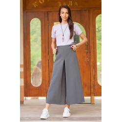 Дамски пола- панталон в сиво