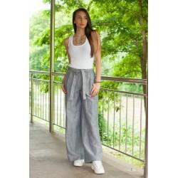 Дамски летен ленен панталон