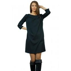 Черна права дамска рокля