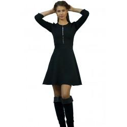 Черна дамска рокля с...
