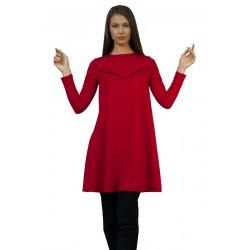 Червена дамска рокля с...