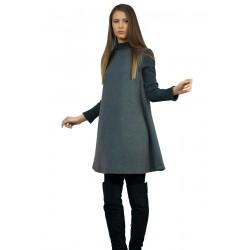 Дамска зимна рокля  с дълъг...