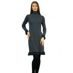 Дамска зимна права рокля с...