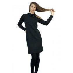 Елегантна черна рокля с...
