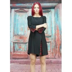 Дамска черна права рокля