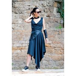 Лятна дамска черна рокля с...