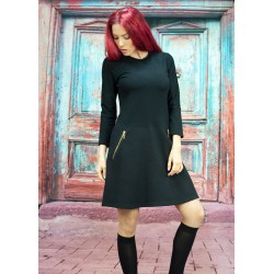 Дамска черна рокля с дълъг...