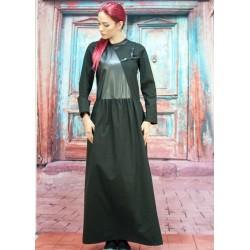 Черна макси дамска рокля с...