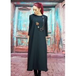 Дамска черна дълга рокля...