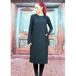 Дамска рокля със свободен...