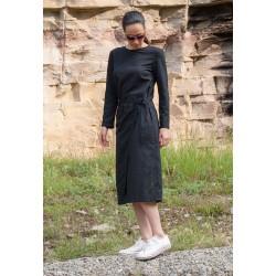 Чарна дамска рокля с дълъг...