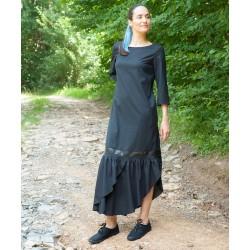 Черна дамска дълга  рокля