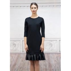 Ежедневна черна рокля със...