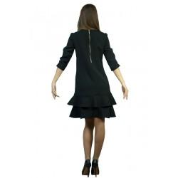 Стилна дамска черна рокля с...
