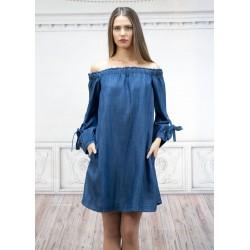 Дамска  права дънкова рокля...