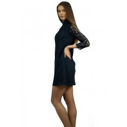Дамска дантелена черна рокля