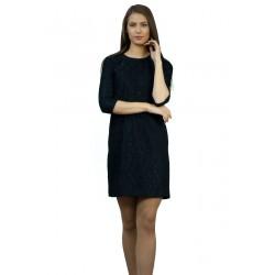 Дамска  черна рокля  с дантела
