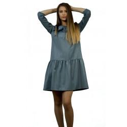 Дамска елегантна рокля в сиво