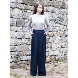 Дамски панталон широк модел...
