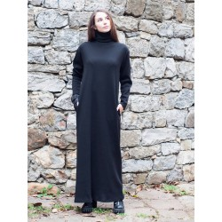 Дамска дълга черна рокля с...