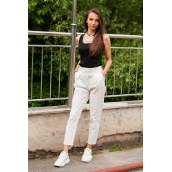 Дамски  бял летен панталон
